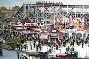 Roller Coasters Framed Prints - Sunnyside Park Framed Print by Kenneth M  Kirsch