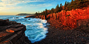 Rocky Maine Coast Posters - Sunrise at Acadia Poster by ABeautifulSky  Photography