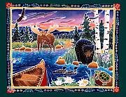 Whimsical Animals  Art - Sunrise at Bear Lake by Harriet Peck Taylor