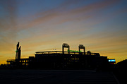 Philadelphia Phillies Stadium Digital Art Posters - Sunrise at Citizens Bank Park Poster by Bill Cannon