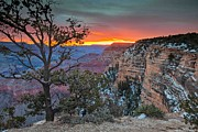 Grand Canyon Photos - Sunrise at Grand Canyon Arizona Scenic Photography by Rob Travis