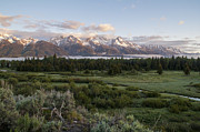 Snow Picture Prints - Sunrise At Grand Teton Print by Brian Harig