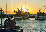 Tom Hudson Art - Sunrise at Kak Bay by Tom Hudson