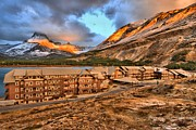 Many Glacier Photos - Sunrise At Many Glacier by Adam Jewell