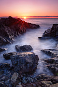 Marginal Way Prints - Sunrise at Marginal Way Print by Michael Blanchette