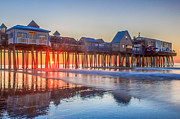 Old Orchard Beach Photos - Sunrise at Old Orchard Beach by Stephen Beckwith