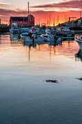 Sunrise At Rockport Harbor - Cape Ann Print by Thomas Schoeller
