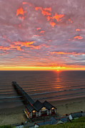 North Sea Prints - Sunrise at Saltburn portrait Print by Gary Eason