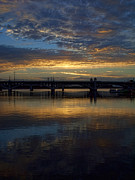 Sunrise At Tempe Town Lake Print by Elaine Snyder