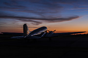 Western Ky Prints - Sunrise At the Airport Print by Amber Kresge
