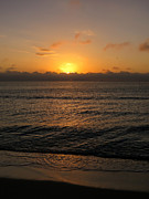 Sunset Photo Prints - Sunrise at the beach Print by Zulfiya Stromberg