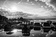 Sunrise At The Pier Canandaigua Lake Print by Joseph Duba