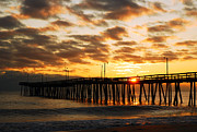 James Kirkikis Prints - Sunrise at Virginia Beach Print by James Kirkikis