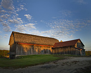 Wisconsin Barn Posters - Sunrise Barn Poster by Jeff Klingler