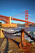 Golden Gate Framed Prints - Sunrise below Golden Gate Framed Print by Brian Jannsen
