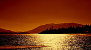 Sunset Prints Originals - Sunrise Big Bear lake by Art Kardashian