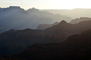 Beauty In Nature Art - Sunrise Canyon Silhouettes in Grand Canyon National Park by Shawn OBrien