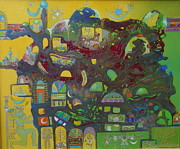 Baghdad Painting Originals - Sunrise City by Hira Bosh