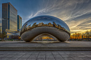 Sebastian Musial Art - Sunrise Cloud Gate by Sebastian Musial