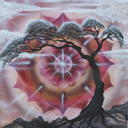 Tree Mandala Originals - Sunrise by Elizabeth Zaikowski