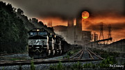 Power Plants Framed Prints - Sunrise Express Framed Print by Bo Lamey