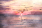 Horizon Paintings - Sunrise Feeling by Stefan Kuhn