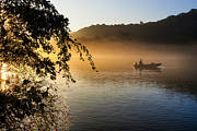 Mornings Framed Prints - Sunrise Fishing On The Chattahoochee Framed Print by Mark E Tisdale