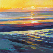 Massachusetts Pastels - Sunrise Flats by Ed Chesnovitch