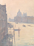 Gondolas Paintings - Sunrise from Accademia Bridge by Julian Barrow