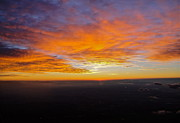 Beautiful Views Framed Prints - Sunrise from the airplane Framed Print by Jennifer Lamanca Kaufman