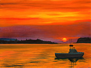 Phillip Compton Posters - Sunrise in Maine Poster by Phillip Compton