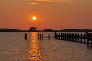 Pier Digital Art - Sunrise in Piney Point MD by Bill Cannon