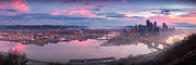 Clemente Framed Prints - Sunrise in Pittsburgh Pano  Framed Print by Emmanuel Panagiotakis