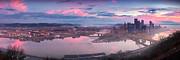 Sunrise In Pittsburgh Pano  Print by Emmanuel Panagiotakis