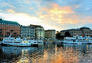 Sunrise In Stockholm Print by Jenny Hudson