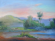Bethel Painting Posters - Sunrise in the Mountains Poster by Patricia Kimsey Bollinger
