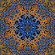 Kaleidoscope Prints - Sunrise Kaleidoscope Print by Deborah Benoit