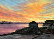 Rockport Paintings - Sunrise Long Beach Rockport MA by Eileen Patten Oliver