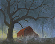 Barn Pastels Prints - Sunrise Mist Print by Garry McMichael