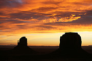 The Western Hotel Photos - Sunrise Monument Valley by Cheryl Birkhead