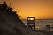 Nauset Beach Prints - Sunrise Nauset Beach Print by John Greim