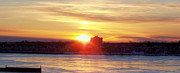 The Sun Rising Prints - Sunrise On A Frozen Niagara River II Print by John Telfer