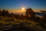 John Haldane Prints - Sunrise on Mount Mitchell Print by John Haldane