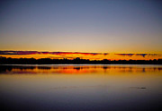 Riviere Metal Prints - Sunrise on Riviere des Mille-Iles Metal Print by Juergen Weiss