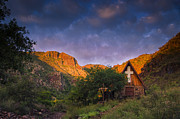 Spiritual Landscape Prints - Sunrise on the Chapel Print by Aaron S Bedell