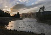 Sandra Bronstein - Sunrise on the Madison River - Yellowstone