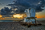 Featured Originals - Sunrise on Vero Beach HDR 1 by Michael White