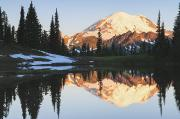 Sunrise Over A Small Reflecting Pond Print by Stuart Westmorland