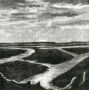 NYPL - Sunrise over Canals of Mars 1884