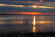 Duxbury Prints - Sunrise Over Duxbury Bay I Print by Steven David Roberts